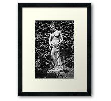 Old Statue Framed Print