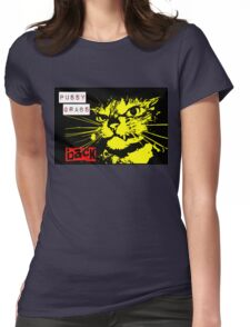 Pussy Grabs Back! Womens Fitted T-Shirt