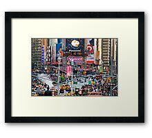 New Times Square Framed Print