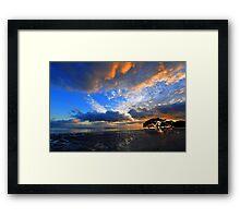 Nudgee Beach at sunrise. Brisbane, Queensland, Australia. Framed Print