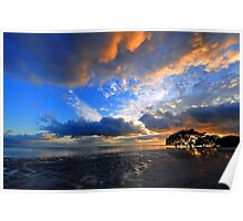 Nudgee Beach at sunrise. Brisbane, Queensland, Australia. Poster