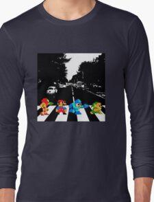 Nintendo Sprites on Abbey Road Long Sleeve T-Shirt