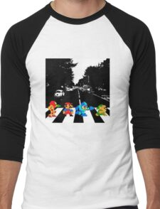 Nintendo Sprites on Abbey Road Men's Baseball ¾ T-Shirt