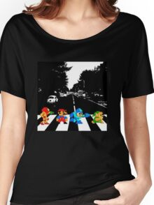 Nintendo Sprites on Abbey Road Women's Relaxed Fit T-Shirt