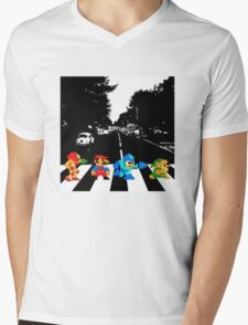 Nintendo Sprites on Abbey Road Mens V-Neck T-Shirt