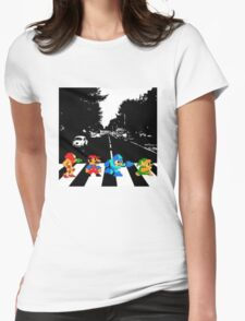 Nintendo Sprites on Abbey Road Womens Fitted T-Shirt