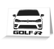 MK7 VW Golf R Front View Greeting Card