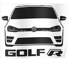 MK7 VW Golf R Front View Poster