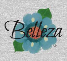 Belleza Blue Mexican flower Motif One Piece - Short Sleeve