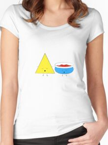 Yoga Chips and Salsa Women's Fitted Scoop T-Shirt