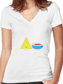 Yoga Chips and Salsa Women's Fitted V-Neck T-Shirt