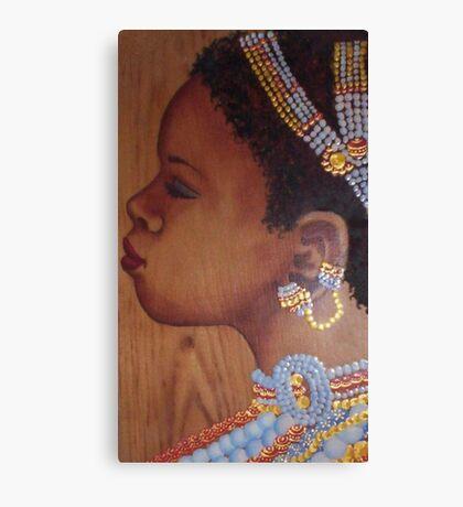 African Bride Canvas Print