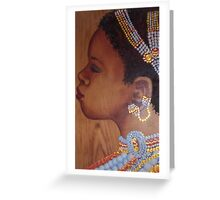 African Bride Greeting Card