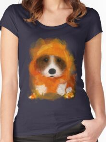 Candy Corgi Women's Fitted Scoop T-Shirt