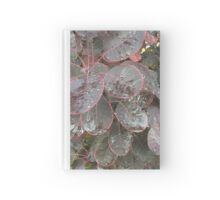 Pink lined Washington leaves  Hardcover Journal