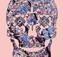 Cherry Blossom Skull by Frantz Mark