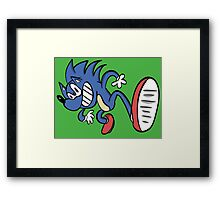 Sonic Redesign Framed Print