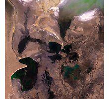 Amu Darya River Delta and South Aral Sea Satellite Image Photographic Print