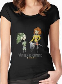 Winter is Coming Women's Fitted Scoop T-Shirt