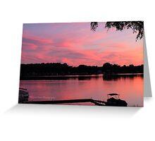 Sunset on Devils Lake Greeting Card