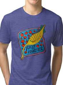 Tully Monster Illinois State Fossil Tri-blend T-Shirt