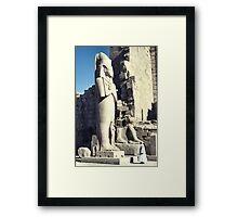 Huge Sculpture of Ramses III, Karnak, Egypt  Framed Print