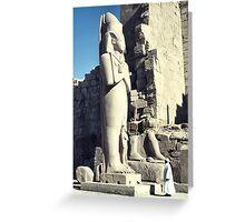 Huge Sculpture of Ramses III, Karnak, Egypt  Greeting Card