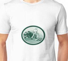 Drainage Unblocking Drain Surgeon Oval Retro Unisex T-Shirt