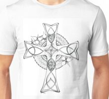 Celtic Cross - Black & White Unisex T-Shirt
