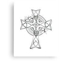 Celtic Cross - Black & White Canvas Print