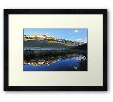 Mirror Lakes On The Way To Miford Sound. South Island, New Zealand. Framed Print