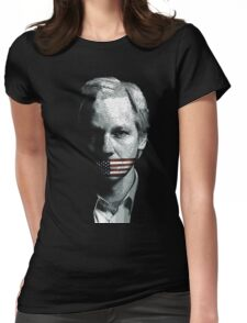 julian assange Womens Fitted T-Shirt