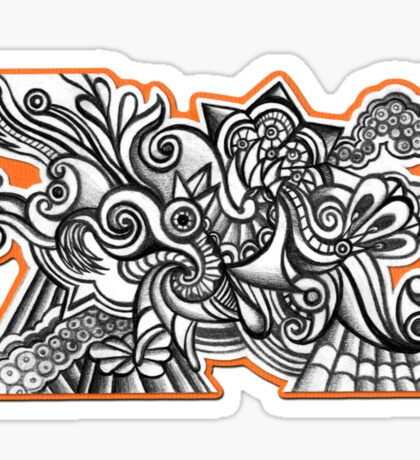 Abstract Dimensions (Black and White) Design 025 Sticker