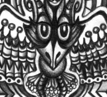 Abstract Dimensions (Black and White) Design 026 - Bird Sticker