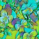 Pastel Pansies by Dana Roper