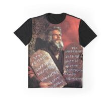 Moses and the Ten Commandments Graphic T-Shirt