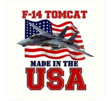 F-14 Tomcat Made in the USA Art Print