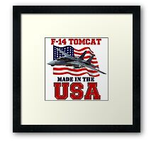 F-14 Tomcat Made in the USA Framed Print