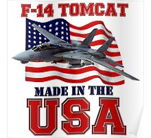 F-14 Tomcat Made in the USA Poster