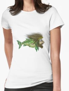 Jesus Fish Womens Fitted T-Shirt