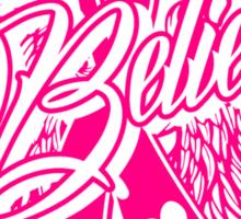 Believe Support Breast Cancer Awareness Tee Sticker