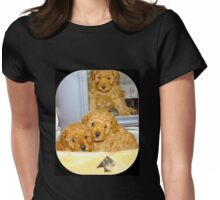 Paws for thought!  This way up! Womens Fitted T-Shirt