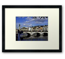 Reflections of Zurich Framed Print