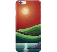 Autumn Sunset acrylic painting iPhone Case/Skin