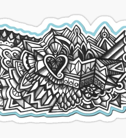 Abstract Dimensions (Black and White) Design 029 Sticker