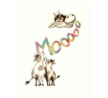 The Cows Often Mooed, When in a Good Mood Art Print