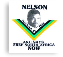 ANC SAYS FREE SOUTH AFRICA NOW Canvas Print