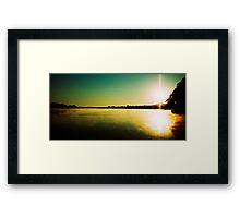 Sunrise near Mannum Framed Print