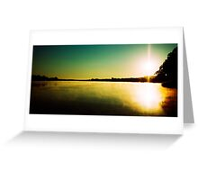 Sunrise near Mannum Greeting Card