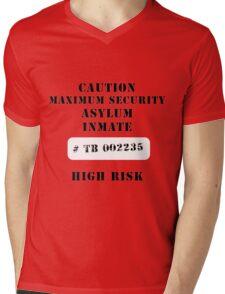 Asylum inmate Mens V-Neck T-Shirt